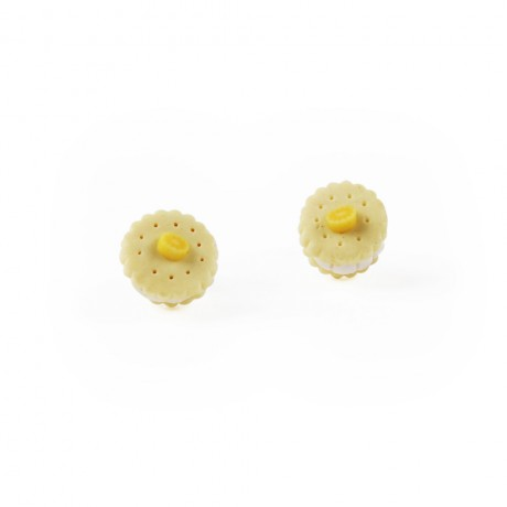 lemon biscuit earrings