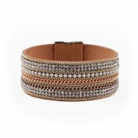 Armband bracelet with strass and chain.