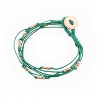 Bracelet with pearls and rope
