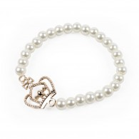 Bracelet with pearls and crown