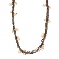Necklace chain with beads rhinestones