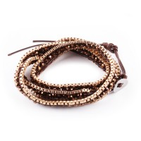 Bracelet brown and gold