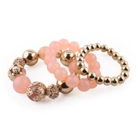 Elastic bracelet with pearls decorated and composed of more pieces