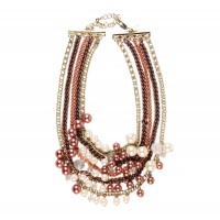 Necklace with chains and pearls